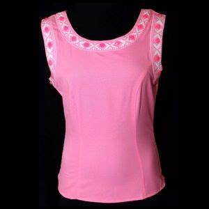 off Lulumari Tops D9 Neon Pink Beaded Cut Out Back
