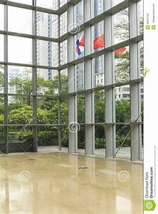 Glass Wall Of Modern Office Building, Business Building ...