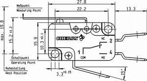 Cherry Switches Mikroschalter D459 Ac 16 A 1 X