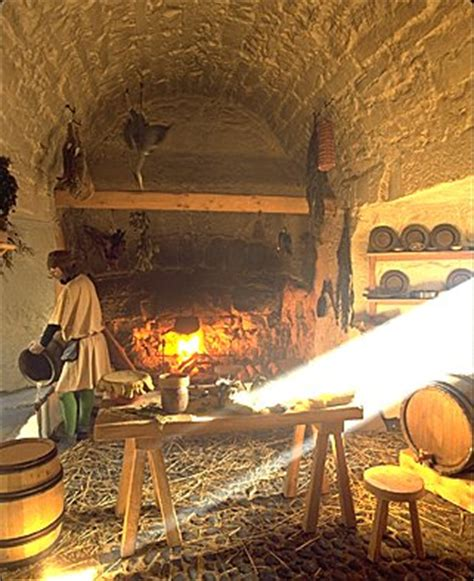 17th century cuisine image the 17th century kitchen with open and cooking spit such aromas isle of