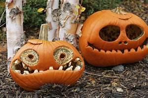 Kürbis Schnitz Ideen : halloween k rbis k rbisgesichter schnitzen k rbis deko ~ Lizthompson.info Haus und Dekorationen