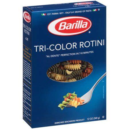 tri color pasta barilla rotini tri color pasta 12 oz walmart