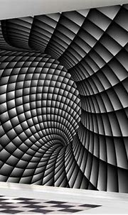 3D Abstract black and white swirl wallpaper wall mural ...