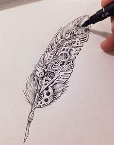 Line work, Steampunk & feather - seriously, what's not to ...