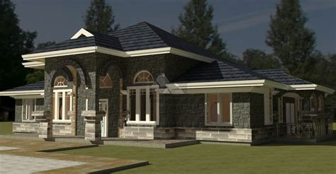 4 bedroom bungalow house plan by architect in Kenya ...