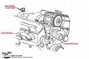 1981 Corvette Pump Mounting  U0026 Vacuum Fitting Parts