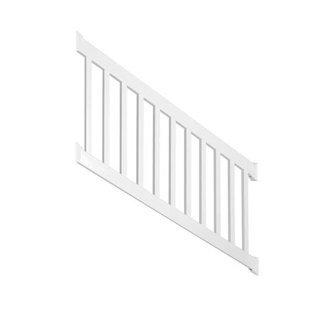 banister kits weatherables walton 3 ft h x 72 in w white vinyl stair