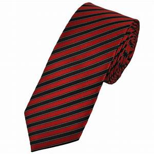 Ties Planet Red, Black & White Striped Skinny Tie from ...