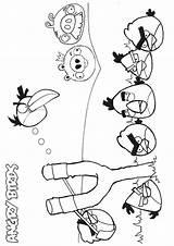Angry Birds Coloring Colorir Bird Pintar Desenhos Uccelli Arrabbiati Slingshot Compartilhado Mais Colorare Momjunction sketch template