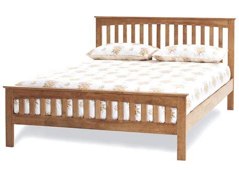 amelia honey oak finish bed frame custom size beds