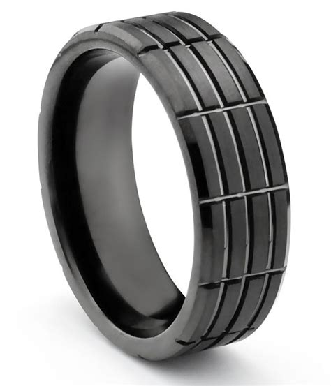 mm matte finished tungsten carbide ring polish grooved