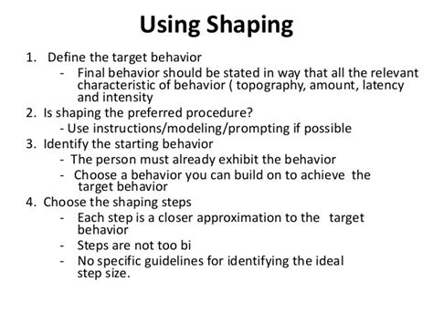 Behaviour Modification Chaining by Behavior Modification Shaping