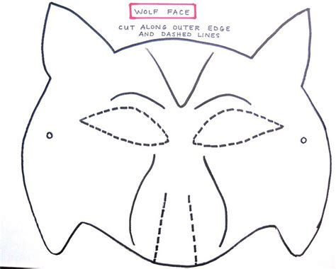 cut out templates wolf wolf mask template for preschoolers making the wolf mask