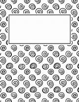 Binder Covers Printable Templates Spiral Template Bindercovers Notebook Coloring Pdf Sheets Printables Planner Adult Journal Binders Explore Student Homework Visit sketch template