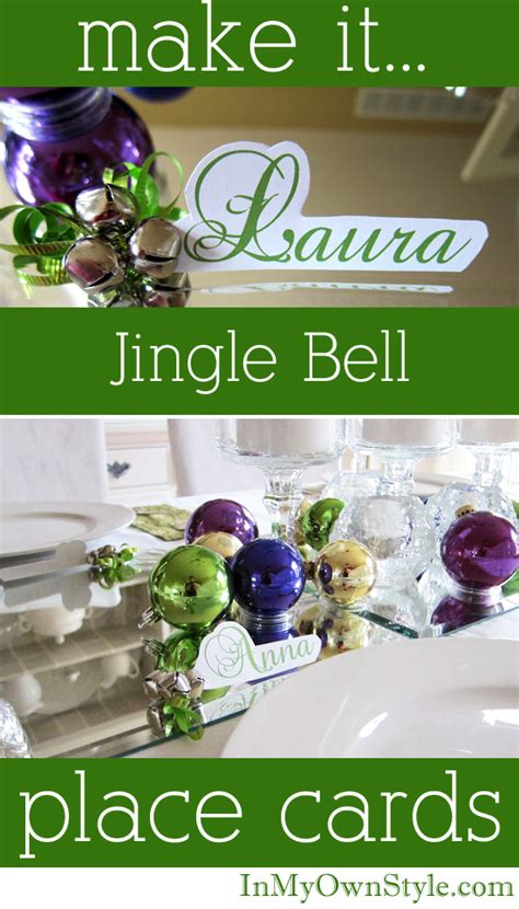 how to make jingle bells jingle bell place cards for holiday table settings in my own style