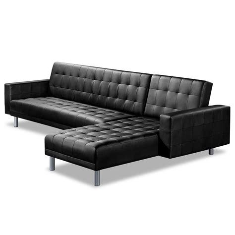 Futon Sectional Sleeper Sofa by Leather Chaise Sofa Bed Furniture Grain Leather