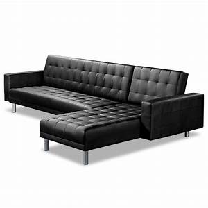 Leather chaise sofa bed furniture full grain leather for Sectional sofa bed with chaise lounge