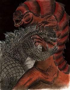 Godzilla vs Talaghan by MonsterKingOfKarmen