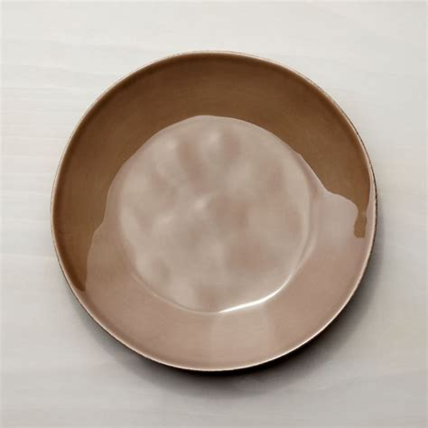 marin taupe dinner plate crate  barrel