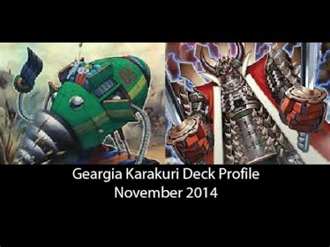 Jinzo Deck November 2014 by Geargia Karakuri Deck Profile November 2014