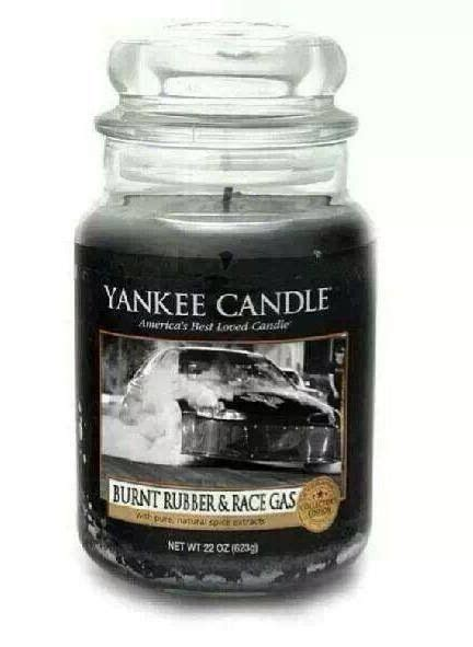 yankee candle burnt rubber race gas scent christmas