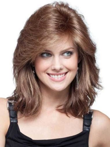 remy human hair shoulder length lace front trendy wigs