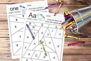 Hidden Letter & Number - Free Printable - Typically Simple