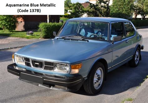 saab  turbo aquamarine blue metallic