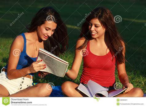 Beautiful College Girls Stock Image Image