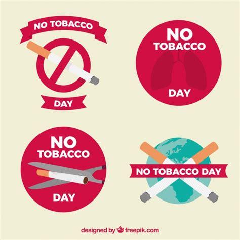 anti raucher farbe vier anti raucher aufkleber der kostenlosen vektor