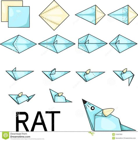 origami templates origami rat stock photo image 31697600 for search how to make and stock