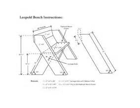 woodwork aldo leopold bench plans pdf plans