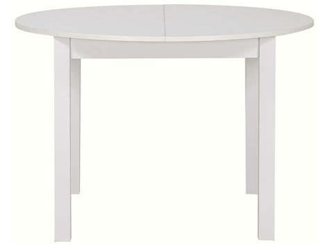 café canapé table ronde avec allonge 160 cm max coloris blanc