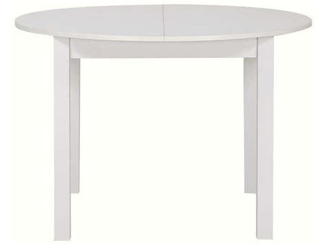 magasin canape table ronde avec allonge 160 cm max coloris blanc