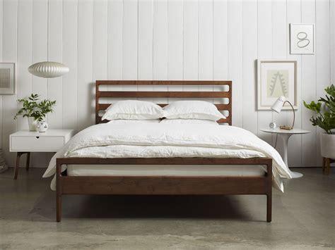handmade wood bed frame parachute home