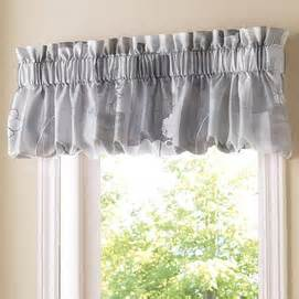 whole home 174 md kitchen window leaves blouson valance