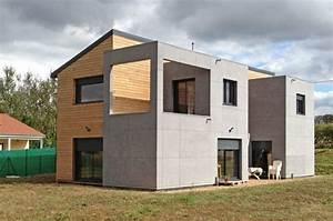 Bardage Façade Maison : maison bardage fibro ciment et bardage bois recherche google bardages maison house styles ~ Nature-et-papiers.com Idées de Décoration