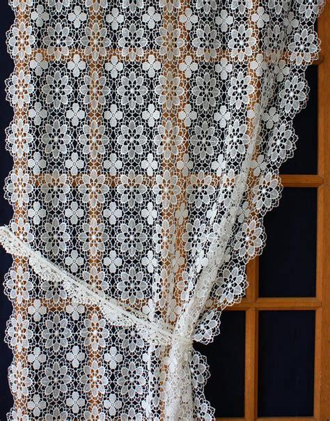 voilage ancien style dentelle macrame lace curtains