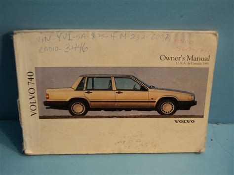 volvo  owners manual ebay