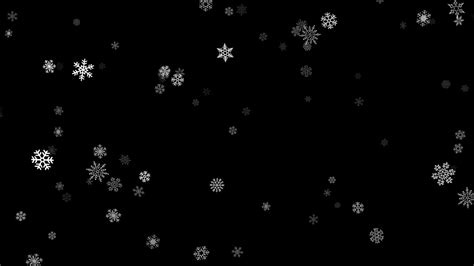 Snowflake Background Black And White by Snowing Falling Loopable Snowflakes On A Black