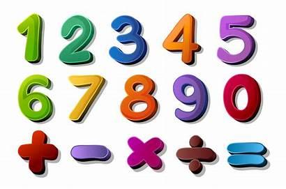 Numbers Symbols Maths Vector Vecteezy Clipart Graphics