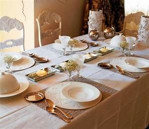 Idee Deco De Table Noel : blanche d co de table de no l 50 id es ~ Zukunftsfamilie.com Idées de Décoration