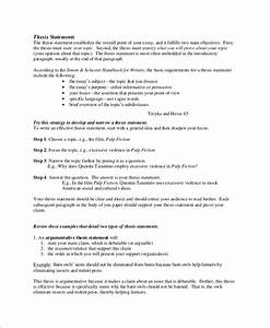 Free 10  Sample Thesis Statement Templates In Ms Word
