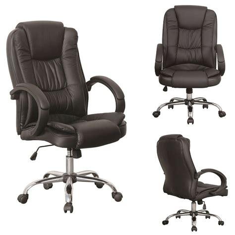 black luxury swivel high back pu leather executive pc
