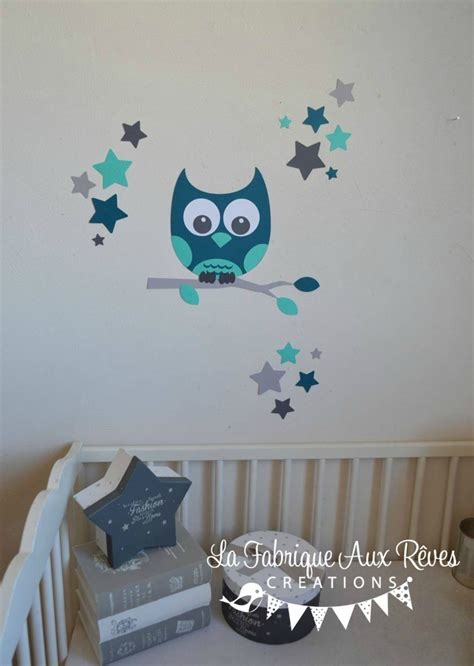 chambre bébé stickers chambre garcon bleu et gris