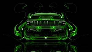 Jeep Grand Cherokee SRT8 Front Fire Abstract Car 2014 el