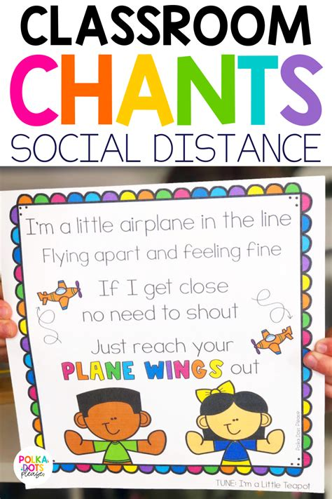 Social Distance Classroom Chants in 2020 Classroom