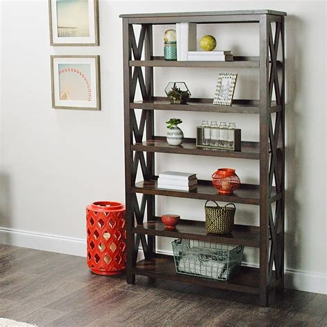 world market bookcase verona six shelf bookshelf world market