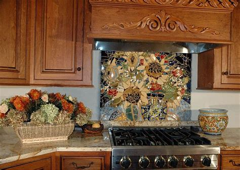 mosaic glass backsplash kitchen 16 wonderful mosaic kitchen backsplashes 7855