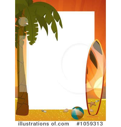 Tropical Beach Border Clip Art Free